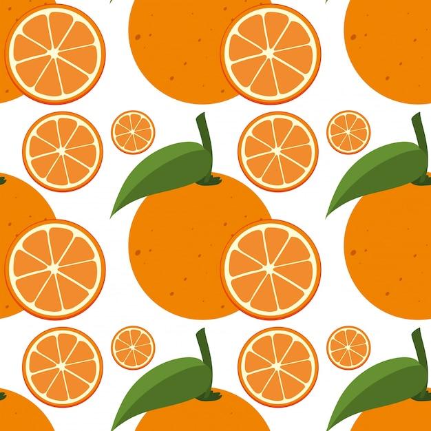 Nahtlose hintergrund vorlage mit frischen orangen Kostenlosen Vektoren