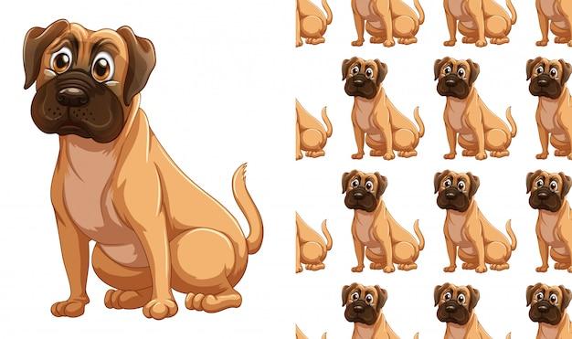 Nahtlose hundetiermusterkarikatur Kostenlosen Vektoren