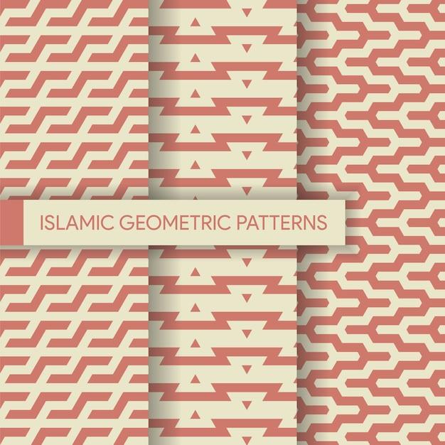 Nahtlose islamische geometrische muster-sammlung Premium Vektoren