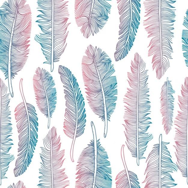 nahtlose muster von federn tribal stil textur download der kostenlosen vektor. Black Bedroom Furniture Sets. Home Design Ideas