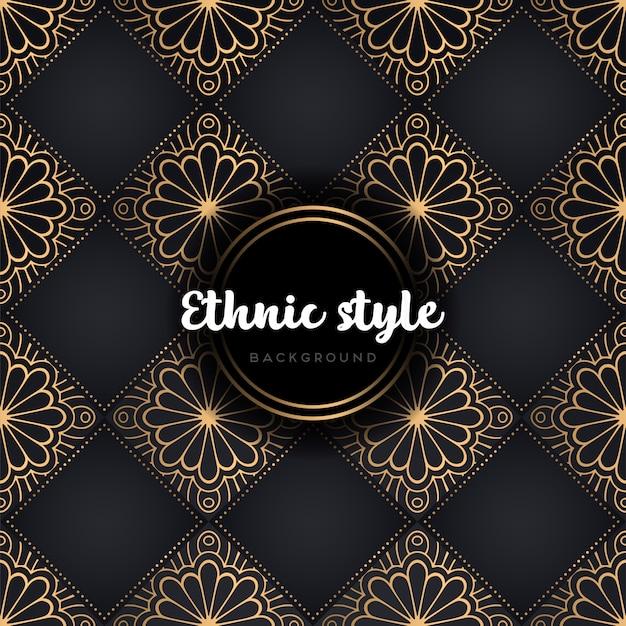 Nahtlose musterdesign luxus mandala Kostenlosen Vektoren