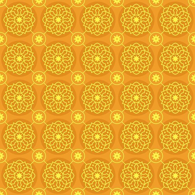 Nahtlose musterhintergrundtapete des mandalas. elegantes traditionelles motiv. luxus geometrisch. klassischer batik. Premium Vektoren
