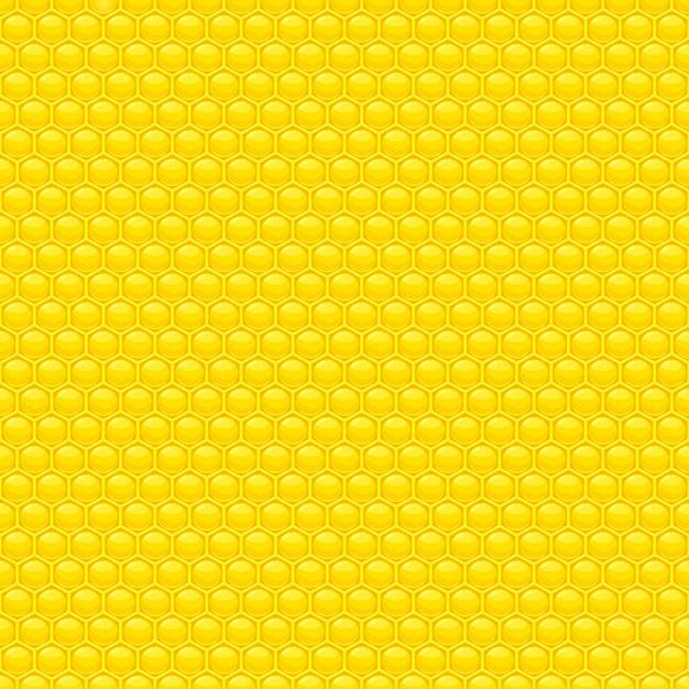 Nahtlose musterillustration des honigs Premium Vektoren