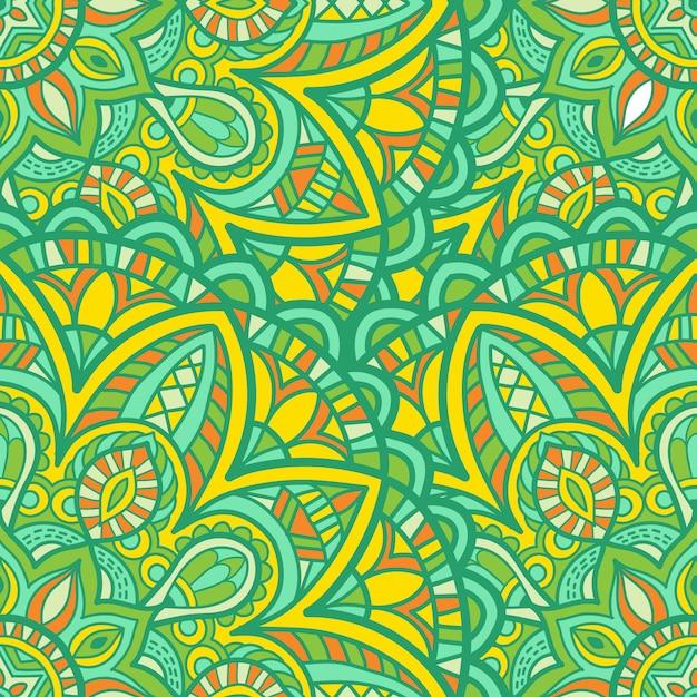 Nahtlose mustertapete mandala-vektor-design zum drucken. stammes-ornament. Premium Vektoren