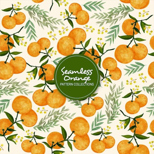 Nahtlose orange musterkollektionen Premium Vektoren