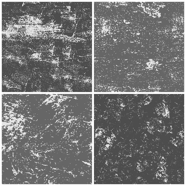 Nahtlose papierbeschaffenheit des schmutzes, strukturierte papierseite der schwarzen tinte, pappmuster und zerfallseitenhintergrundbeschaffenheiten eingestellt Premium Vektoren