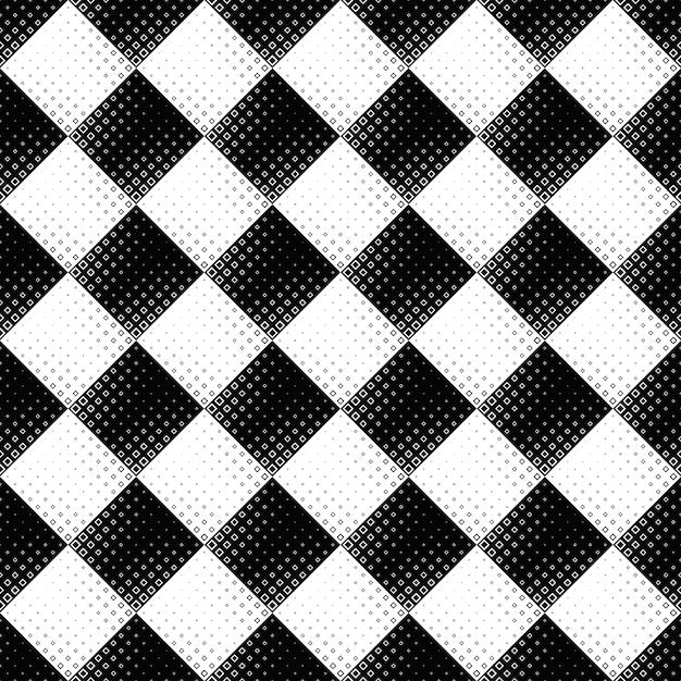 Nahtloser abstrakter quadratischer musterschwarzweiss-hintergrund Premium Vektoren