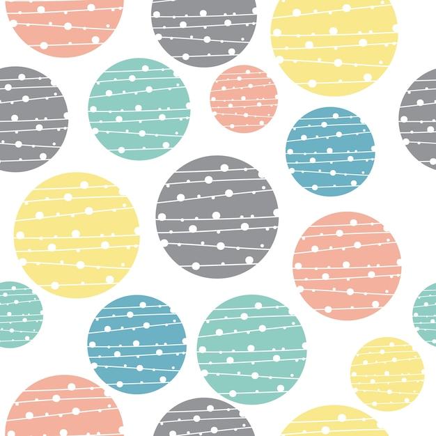 Nahtloser geometrischer kreismuster-pastellhintergrund Premium Vektoren