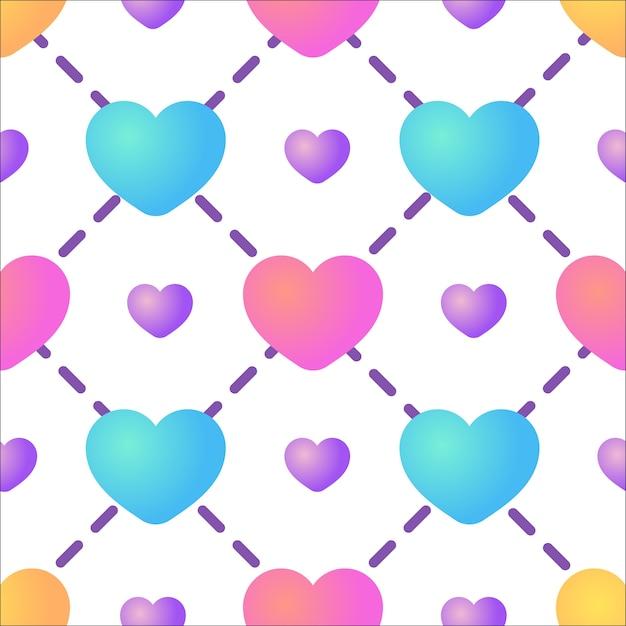 Nahtloser Herz-Muster Hintergrund | Download der Premium Vektor