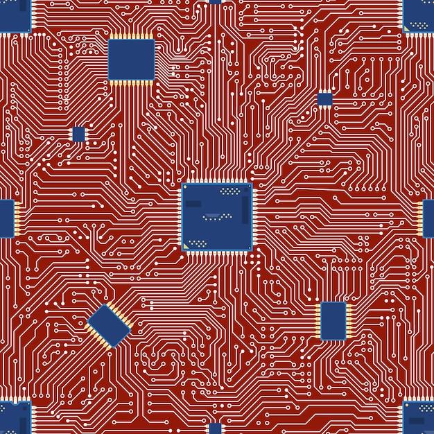 Nahtloser hintergrund der eps-motherboardzusammenfassung. Premium Vektoren