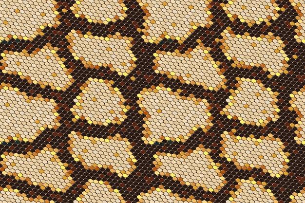 Nahtloser hintergrund der pythonschlangehaut auf vektorgrafikkunst. Premium Vektoren