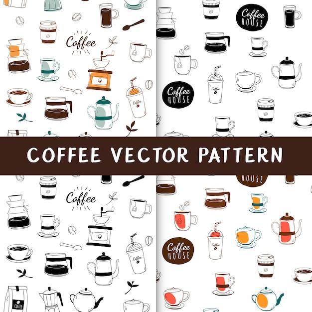Nahtloser hintergrund des kaffeehauses und des cafés Kostenlosen Vektoren