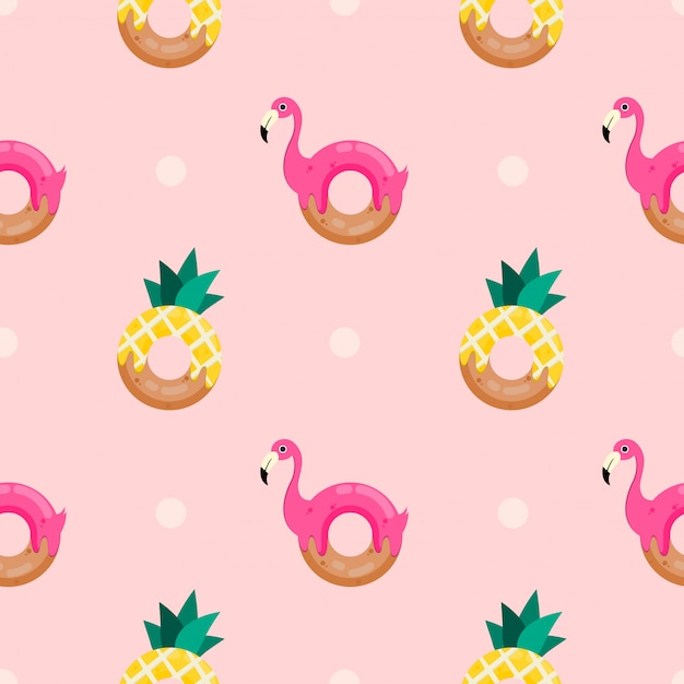 Nahtloser muster süßer donut Premium Vektoren