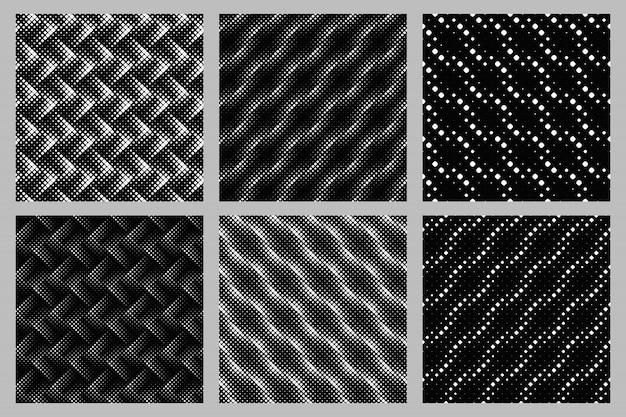 Nahtloser quadratischer musterhintergrund-designsatz Premium Vektoren