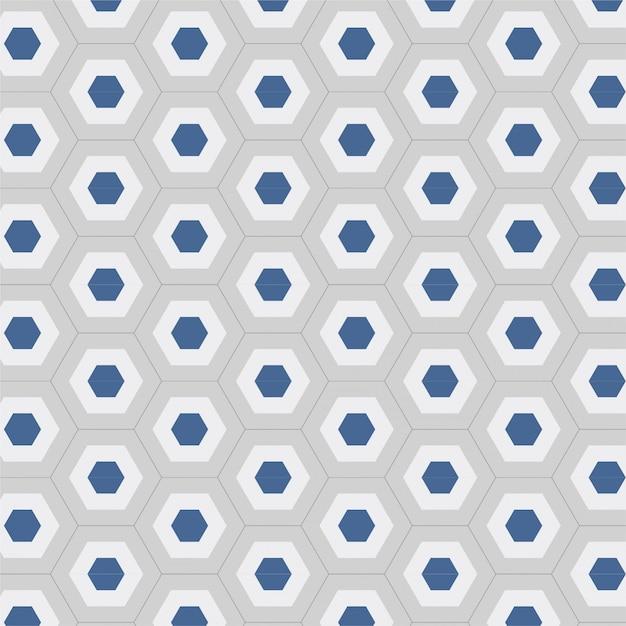 Nahtloses geometrisches hintergrundmuster des modernen hexagons blau und weiß Premium Vektoren