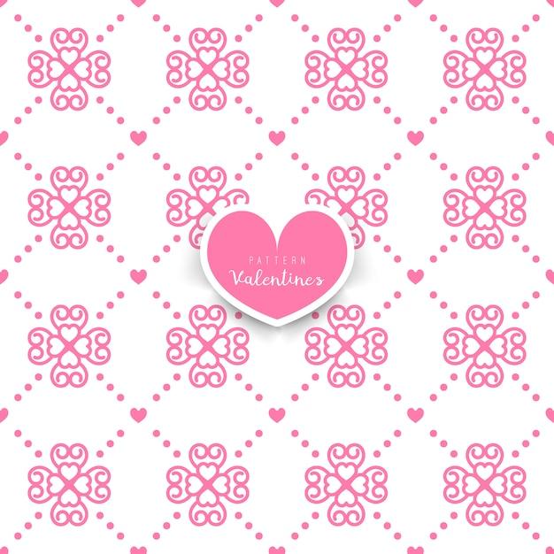 Nahtloses geometrisches Muster mit den dekorativen Herzen | Download ...