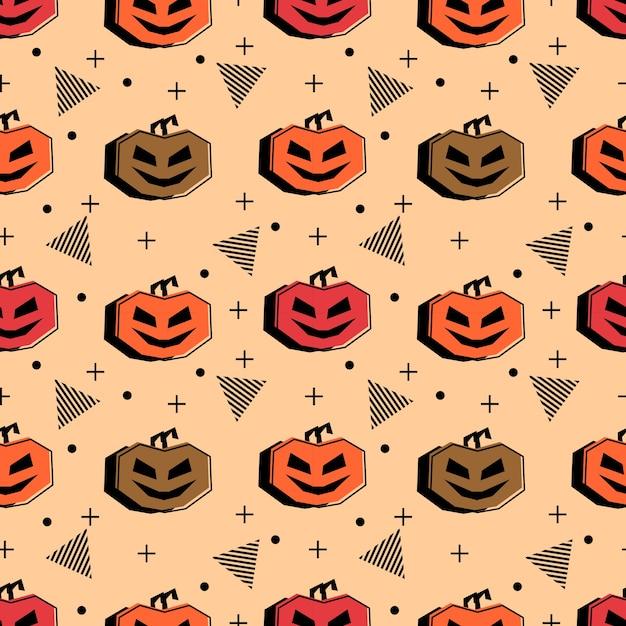 Nahtloses halloween-muster mit hippie mehrfarben Premium Vektoren