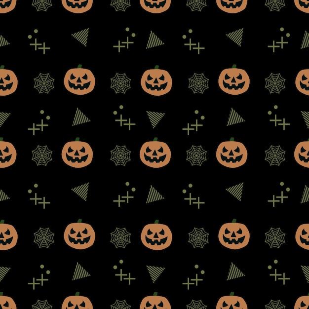Nahtloses modisches halloween-muster Premium Vektoren