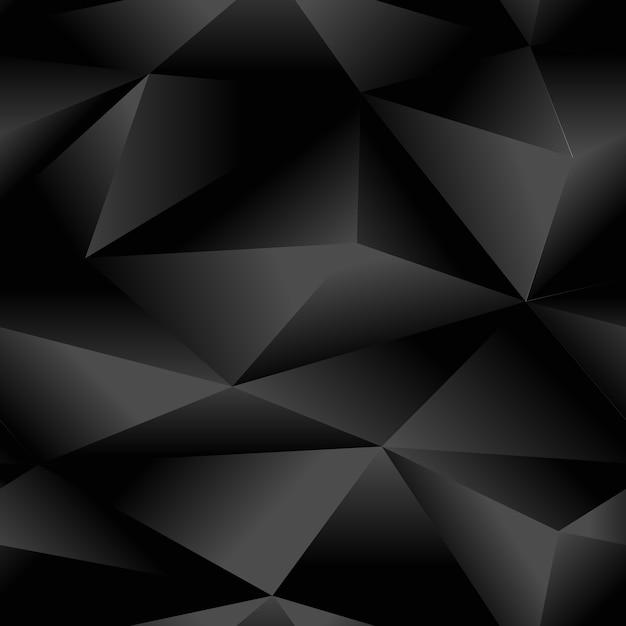 Nahtloses muster abstraktes polygonales dreieck schwarz Premium Vektoren
