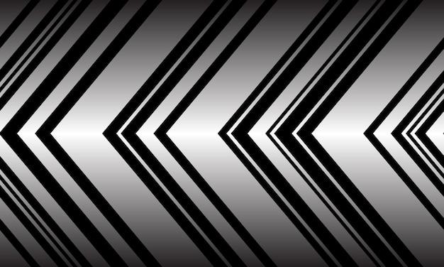 Nahtloses muster der abstrakten silbernen schwarzen pfeilmusterrichtung Premium Vektoren