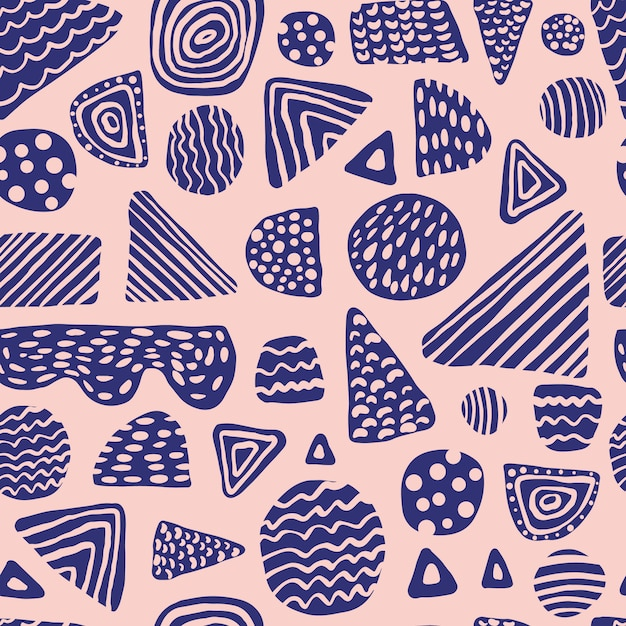 Nahtloses muster der einfachen farbigen formen Premium Vektoren