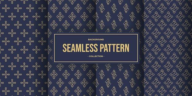 Nahtloses muster der eleganten geometrischen linie Premium Vektoren