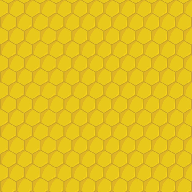 Nahtloses muster der gelben bienenwabe Premium Vektoren