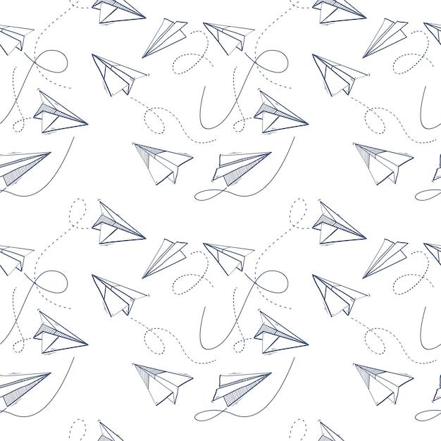 Nahtloses muster der origamipapierfläche Premium Vektoren