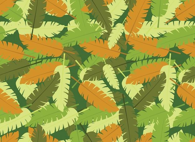 Nahtloses muster der tropischen blätter Premium Vektoren