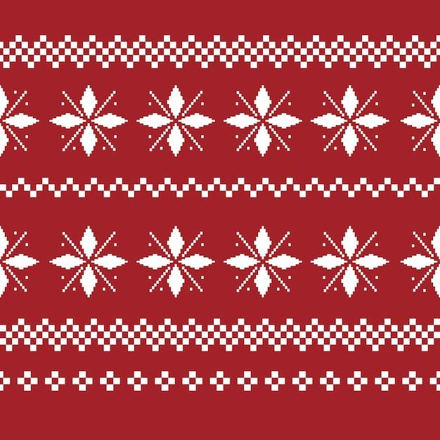 Nahtloses muster der weihnachtsdekoration. hässlicher pullover Kostenlosen Vektoren