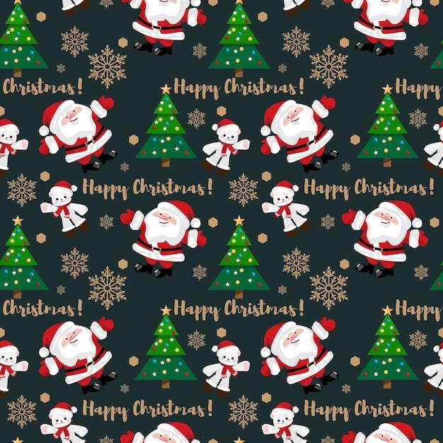 Nahtloses muster der weihnachtsferienzeit. Premium Vektoren