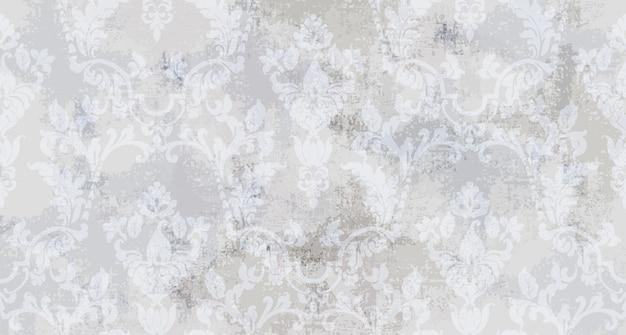 Nahtloses muster der weinleseverzierung. barockes rokokobeschaffenheits-luxusdesign. königliche textildekore. Premium Vektoren