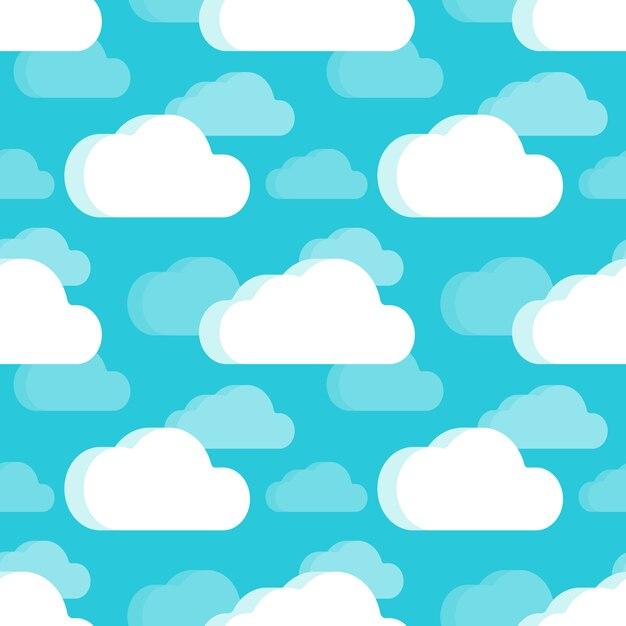 Nahtloses muster der wolken Premium Vektoren