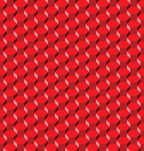 Nahtloses muster des abstrakten roten sechsecks Premium Vektoren