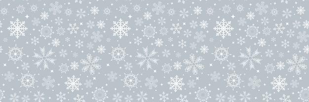 Nahtloses muster des abstrakten winterdesigns mit schneeflocken für weihnachten. Premium Vektoren