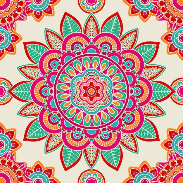 Nahtloses muster des ethnischen boho hippies Premium Vektoren
