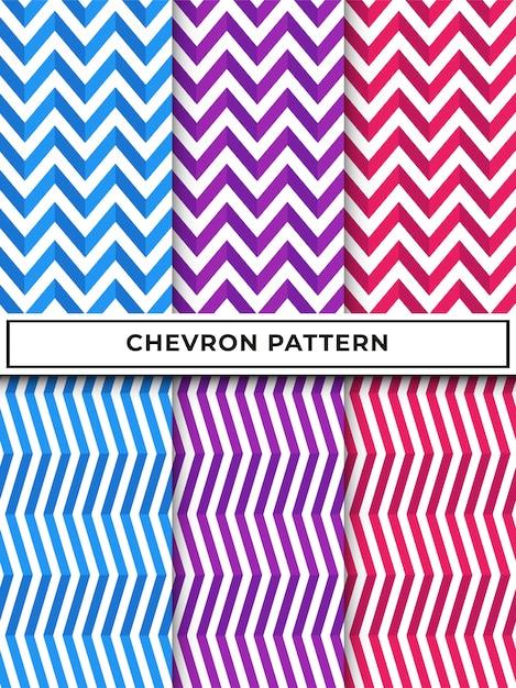 Nahtloses muster des geometrischen chevron-zickzacks Premium Vektoren