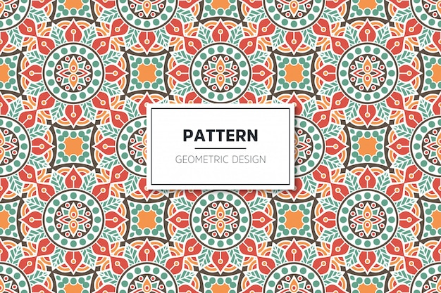 Nahtloses muster des luxuriösen dekorativen mandala-designs Kostenlosen Vektoren