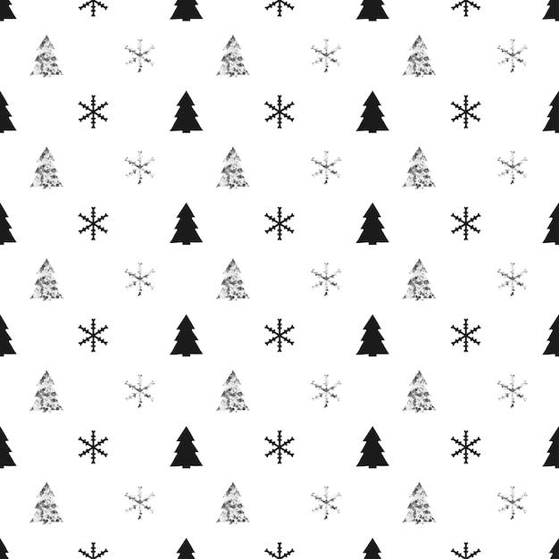 Nahtloses muster des weihnachtsneuen jahres Premium Vektoren