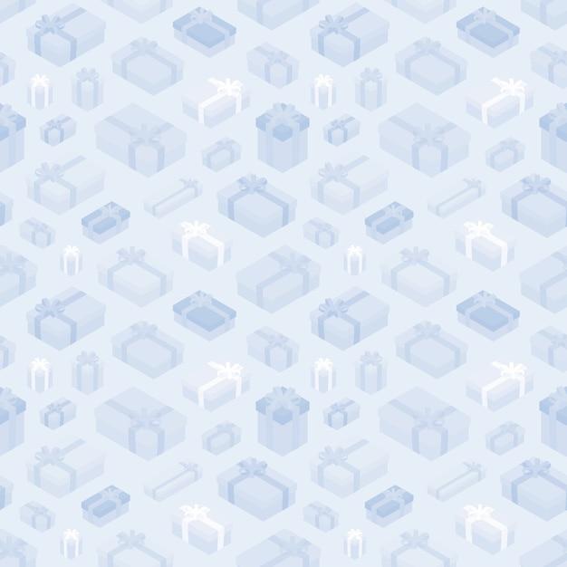 Nahtloses muster mit den isometrischen geschenkboxen Premium Vektoren