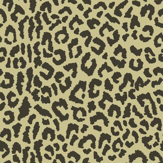 Nahtloses muster mit leopardenflecken Premium Vektoren