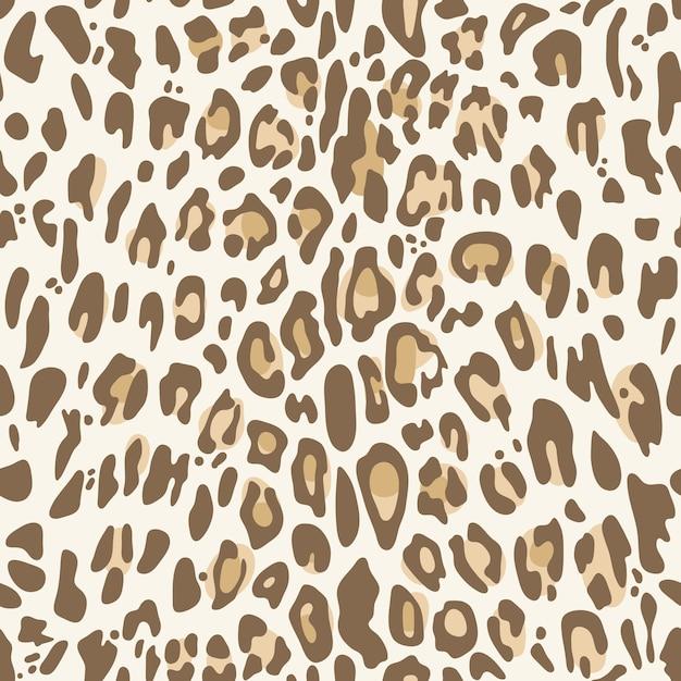 Nahtloses muster mit natürlichem leoparddruck Premium Vektoren