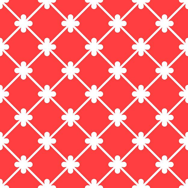 Nahtloses muster roter spanischer dekorativer keramikziegel Premium Vektoren