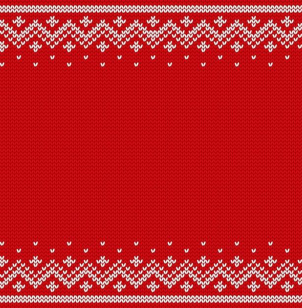Nahtloses muster stricken. gestrickte weihnachtsbeschaffenheit. illustration. Premium Vektoren