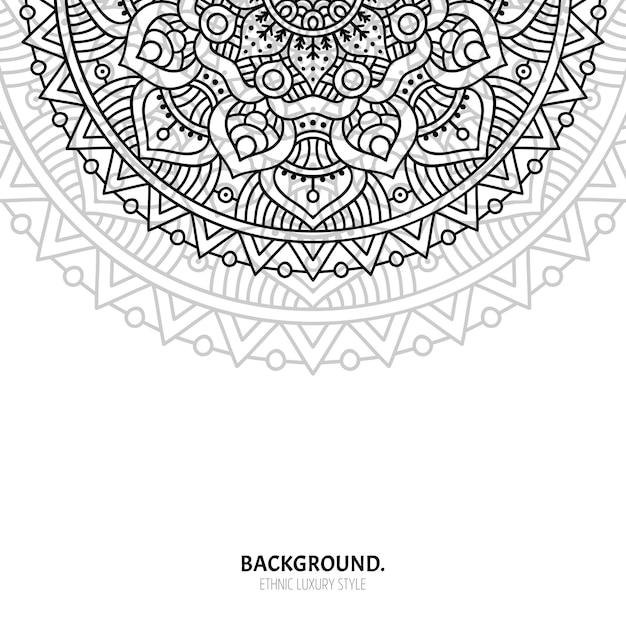 Nahtloses muster. vintage dekorative elemente. hand gezeichneter hintergrund Premium Vektoren