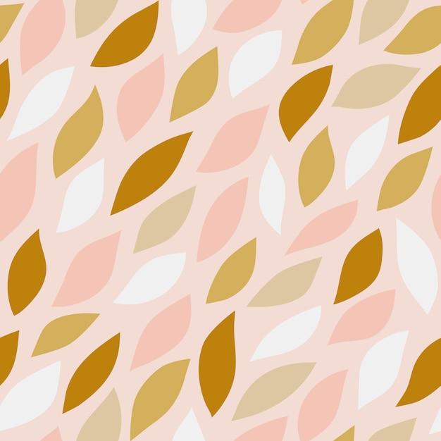 Nahtloses muster von blumenblättern auf rosa hintergrund Kostenlosen Vektoren