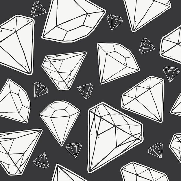 Nahtloses muster von diamanten, Premium Vektoren