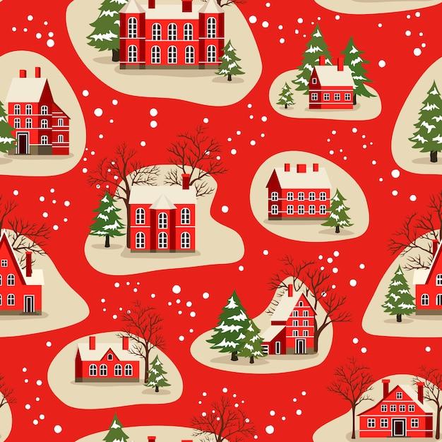 Nahtloses muster von weihnachten und neujahr Premium Vektoren