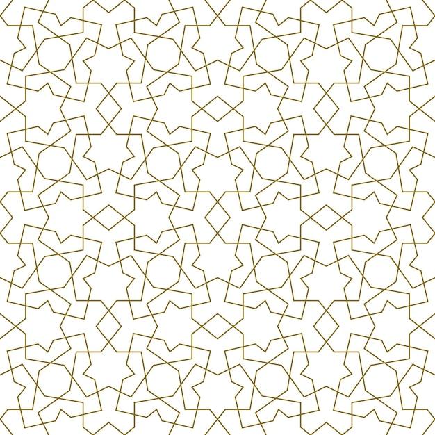 Nahtloses nahtloses muster basierend auf traditioneller islamischer kunst. Premium Vektoren