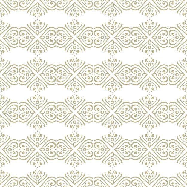 Nahtloses orientalisches und dekoratives muster im mandala-stil Premium Vektoren
